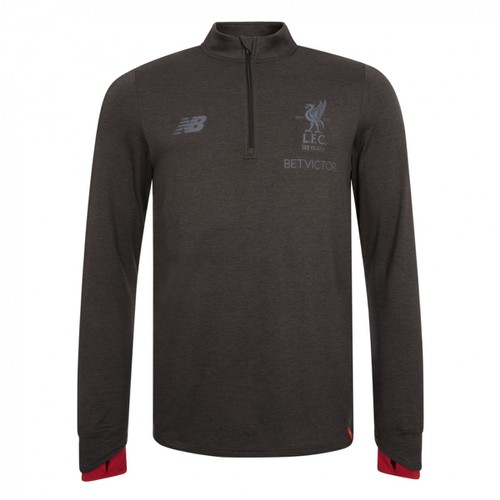 LFC Mens Black Marl Training Mid Layer Top 17/18
