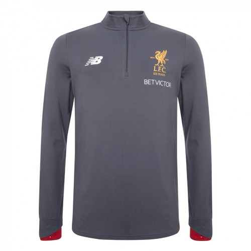 LFC Mens Grey Training Mid Layer Top 17/18