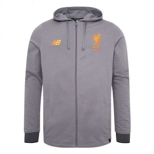 LFC Mens  Grey Travel Hoody 17/18