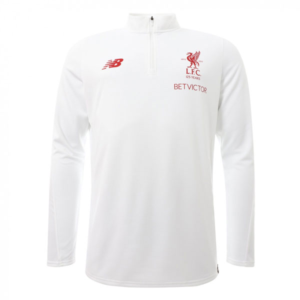 LFC White Training Sweat Top 2017/18 - Mens