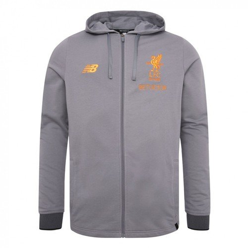 Liverpool FC Kids Grey Travel Hoody 17/18