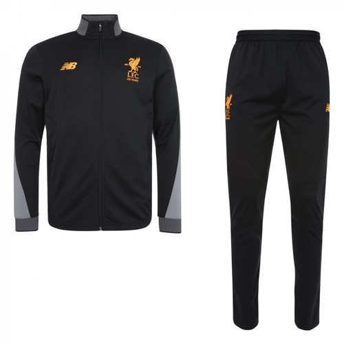 Mens Black full LFC Tracksuit 2017-18