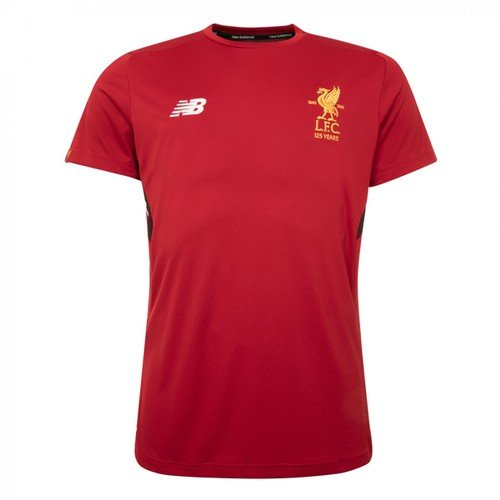 Red Short Sleeve Kids LFC Training Jersey 17/18