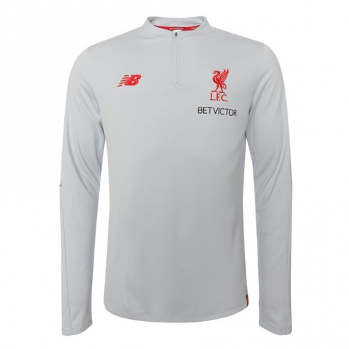 New Balance Mens Liverpool FC 18//19 Leisure Mid Layer Football Top Grey