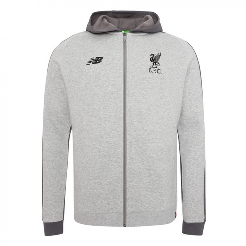 LFC Junior Grey Marl Leisure Hoody 18/19