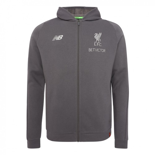 LFC Mens Grey Leisure Hoody 18/19