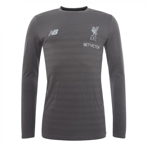 LFC Mens Grey Long Sleeve Training Top 2018/19