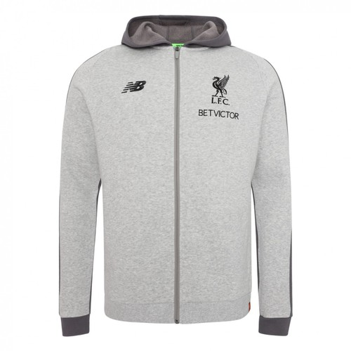 LFC Mens Grey Marl Leisure Hoody 18/19