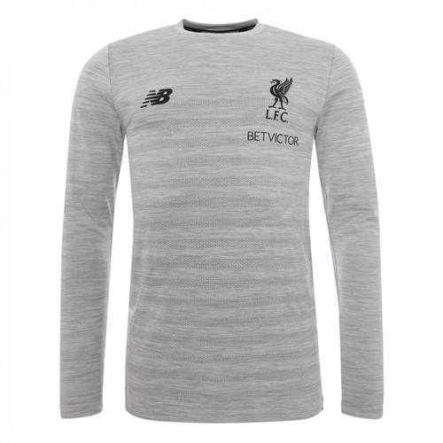 LFC Mens Grey Marl Training Long Sleeve Jersey 18/19