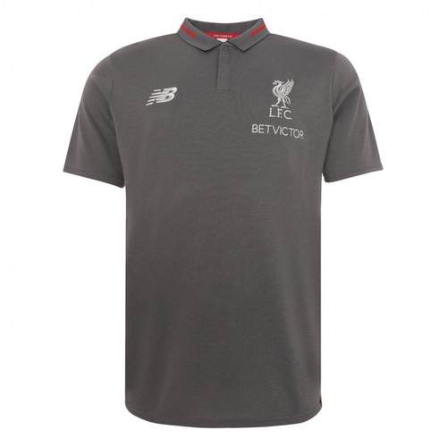 LFC Mens Grey Training Polo Shirt 2018/19