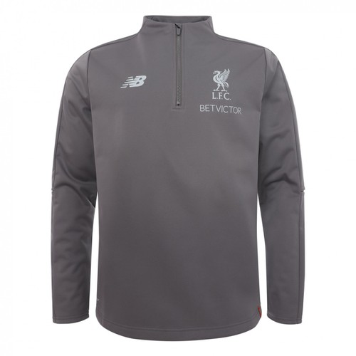 LFC Mens Grey Training Quarter Zip 18/19