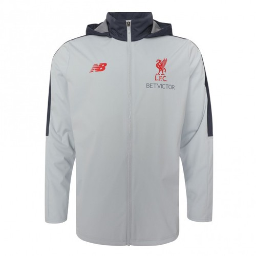 LFC Mens Grey Training Rain Jacket 2018-19 0dfb16764