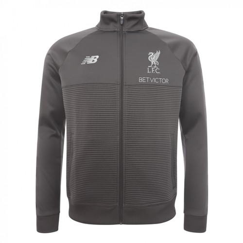 LFC Mens Grey Training Walk Out Jacket 18/19