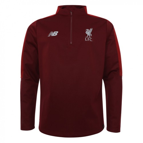 LFC Mens Red Marl Training Quarter-Zip 18/19