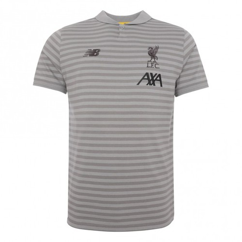 2019-20 LFC Kids Grey Travel Polo Shirt