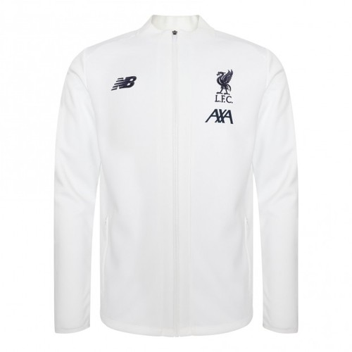 LFC Mens White Pre Game Jacket 19/20