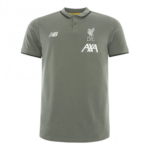 Liverpool Mens Khaki Polo Shirt 19/20