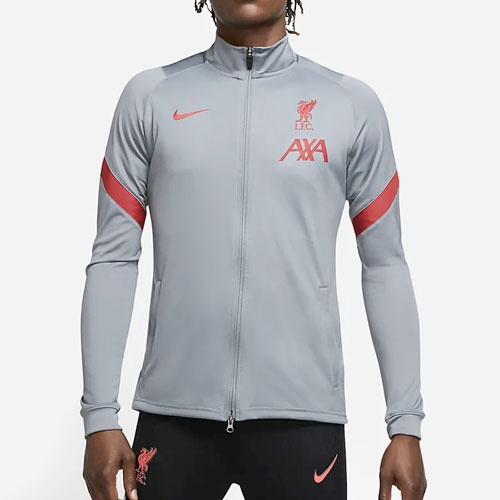 Liverpool FC Grey Tracksuit Jacket Top - Nike