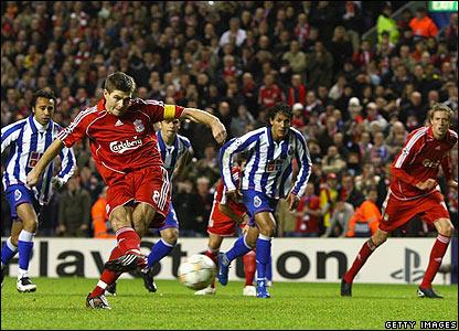 Gerrard penalty against Porto