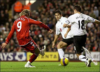 Torres scores against Fulham