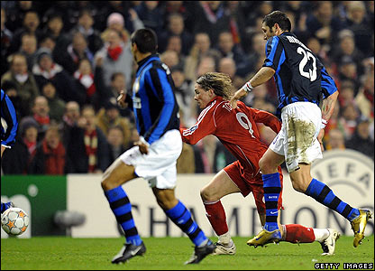 Torres fouled by Materazzi