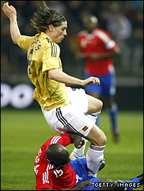 Torres injured with Spain