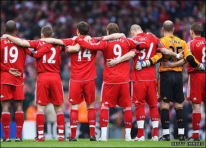 Liverpool players mark the 19th Hillsborough Anniversary