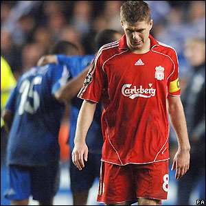 Gerrard disappointed at the final whistle