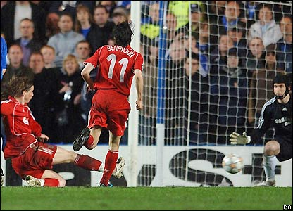 Torres equalises against Chelsea