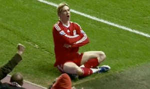 Torres gets the goal against Chelsea