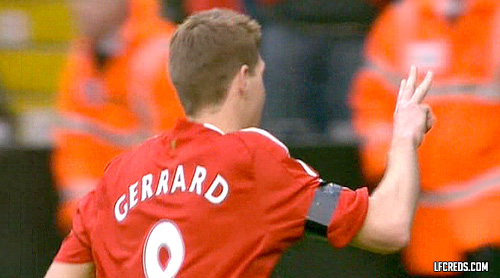 Steven Gerrard completes his hat-trick from the penalty spot