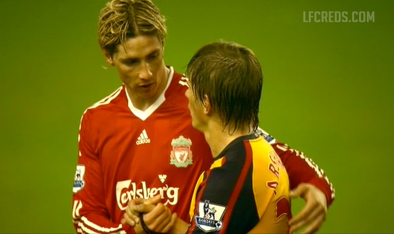 Arshavin and Torres after Liverpool 4-4 Arsenal