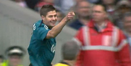 Gerrard scores against West Ham