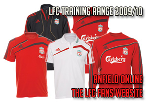 Liverpool FC Adidas Official Training Range 2009/10