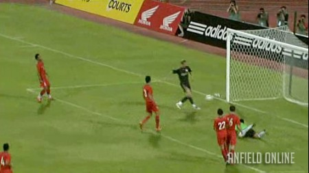 Torres scores the 4th against Singapore