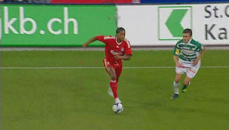 Glen Johnson's first touch for the reds