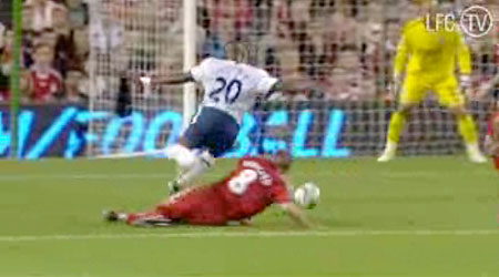 Gerrard gives away a penalty against Villa