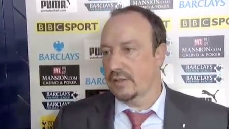 Rafa was critical of Phil Dowd after the Spurs 2-1 defeat in August
