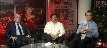 Ian Ayre, alongside the Chairman Tom Werner and John W Henry
