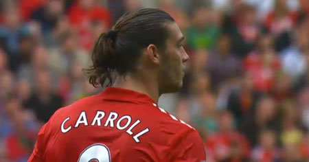 Andy Carroll scored the opening goal against Valencia