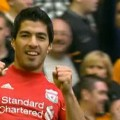 Luis Suarez scores against Wolves