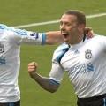 Craig Bellamy scores against Villa