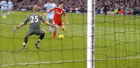 Downing missed a great chance at 0-0