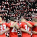 Anfield held a minutes silence before the game ahead of the Hillsborough anniversary