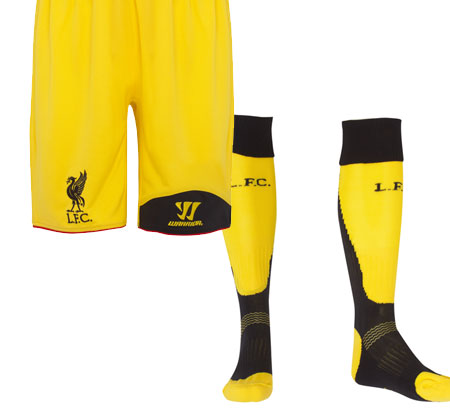 LFC AWAY Goalkeeper Socks and Shorts 2012-13