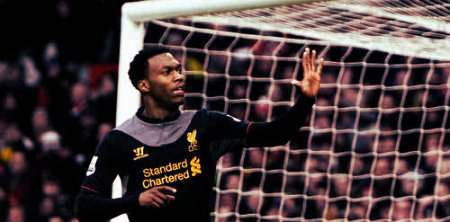 Daniel Sturridge scores against Man Utd