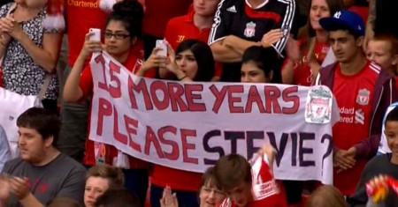 Liverpool fans ask Gerrard for a favour