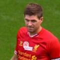 Steven Gerrard prior to Kick Off v Olympiacos