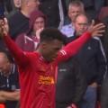 Sturridge celebrates LFC's first goal of the season