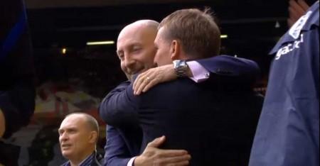 Brendan Rodgers greets Ian Holloway